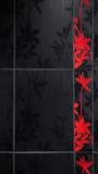 Mattonelle floreali della stanza da bagno Immagini Stock