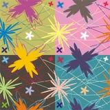 Mattonelle floreali di decorazione e del reticolo Fotografia Stock Libera da Diritti