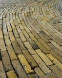 Mattonelle gialle del mattone del pavimento, Rundetårn, Copenhaghen, Danimarca Immagine Stock Libera da Diritti