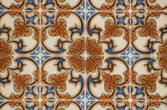 Mattonelle lustrate portoghesi tradizionali fotografia stock