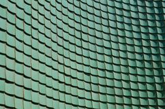 Mattonelle lustrate verde del cinese tradizionale Fotografia Stock