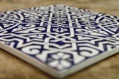 Mattonelle marocchine blu dello zellige Immagine Stock