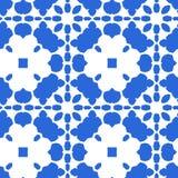 Mattonelle marocchine blu - ornamento senza cuciture fotografia stock