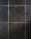 Mattonelle nere della pietra di rettangolo immagini stock libere da diritti