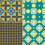 Mattonelle portoghesi di azulejo Reticoli senza giunte Fotografia Stock Libera da Diritti