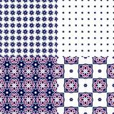 Mattonelle portoghesi di azulejo Reticoli senza giunte Immagini Stock Libere da Diritti