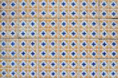 Mattonelle portoghesi strutturate antiche Fotografie Stock