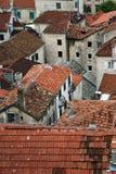 Mattonelle rosse in Cattaro Fotografie Stock Libere da Diritti