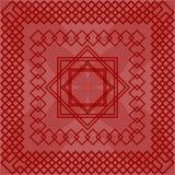 Mattonelle rosse con il modello dello squate royalty illustrazione gratis