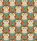Mattonelle senza cuciture del fondo del modello - scimmie nuove illustrazione vettoriale