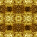 Mattonelle senza cuciture del modello dell'estratto dorato di lerciume Fotografie Stock