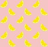 Mattonelle senza cuciture del modello di vettore della limonata rosa Fotografie Stock