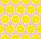 Mattonelle senza cuciture del modello di vettore della limonata rosa Immagine Stock