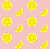 Mattonelle senza cuciture del modello di vettore della limonata rosa Immagini Stock