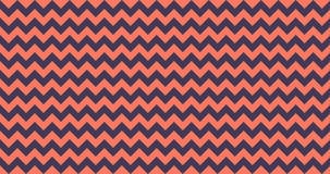mattonelle senza cuciture del modello di vettore di 4K Ombre Chevron orizzontalmente nel vivere Coral Color Bande di zigzag Fondo royalty illustrazione gratis