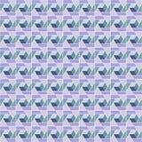 Mattonelle senza cuciture poligonali della scatola porpora Fotografie Stock Libere da Diritti