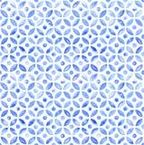 Mattonelle senza cuciture semplici marocchine - acquerello della marina illustrazione vettoriale