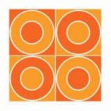 Mattonelle senza giunte con i cerchi arancioni Immagini Stock Libere da Diritti