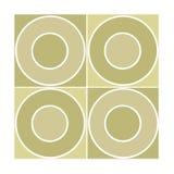 Mattonelle senza giunte con i cerchi beige Fotografia Stock Libera da Diritti