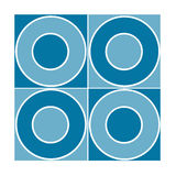 Mattonelle senza giunte con i cerchi blu Immagini Stock