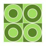 Mattonelle senza giunte con i cerchi verdi Fotografia Stock