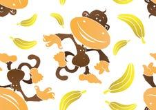 Mattonelle senza giunte della scimmia Funky Fotografia Stock