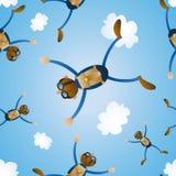 Mattonelle senza giunte di immersione subacquea di cielo Fotografia Stock Libera da Diritti