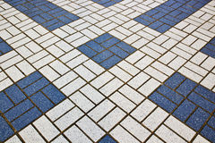 Mattonelle sistemate in geometrico Fotografie Stock