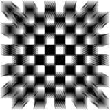 Mattonelle spostate in bianco e nero Immagini Stock
