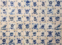 Mattonelle storiche, portoghesi, blu e bianche di azulejo portugal Immagine Stock