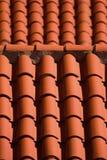 Mattonelle in tetto Immagini Stock