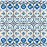 Mattonelle turche del modello senza cuciture splendido, marocchine, portoghesi bianche, Azulejo, ornamento Immagine Stock