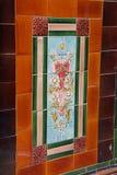 Mattonelle vittoriane della parete Fotografia Stock