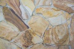 Mattoni dell'irregolare di struttura della parete di pietra dell'ardesia Fotografia Stock Libera da Diritti