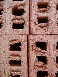 Mattoni della costruzione fotografie stock