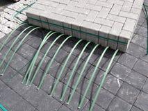 Mattoni della pavimentazione Immagini Stock