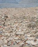 Mattoni disposti da costruzione distrutta Immagini Stock