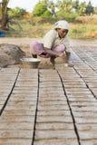 Mattoni fatti a mano editoriali documentari in India Fotografia Stock Libera da Diritti