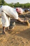 Mattoni fatti a mano editoriali documentari in India Fotografia Stock