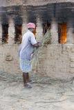 Mattoni fatti a mano editoriali documentari in India Immagine Stock Libera da Diritti
