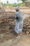 Mattoni fatti a mano editoriali documentari in India Immagini Stock Libere da Diritti