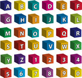 Mattoni - lettere bianche dalla facciata frontale Fotografie Stock Libere da Diritti