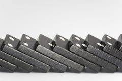Mattoni neri di domino Fotografie Stock Libere da Diritti