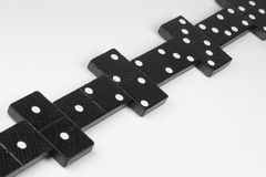 Mattoni neri di domino Fotografia Stock Libera da Diritti