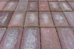mattoni rossi/pavimento della pietra Fotografie Stock Libere da Diritti