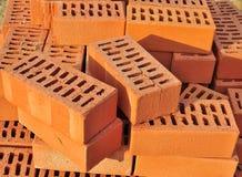 Mattoni rossi per costruzione futura Fotografia Stock