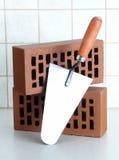 Mattoni & Trowel Immagini Stock Libere da Diritti