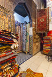 Mattor i Marocko, orientaliska marockanska ornamets Arkivbilder