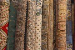 Mattor i Marocko, orientaliska marockanska ornamets Royaltyfria Foton