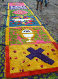 Mattor som firar den heliga veckan, El Salvador Fotografering för Bildbyråer